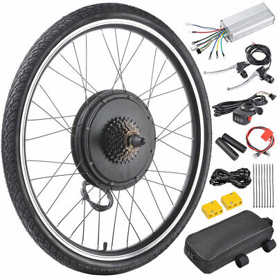 "500W 26"" Rear Wheel Electric Bicycle Motor Kit E-Bike Conversion Cycling Hub 36V"