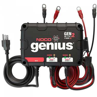 Noco GENM2 2-Bank 8-Amp Waterproof On-Board Marine Battery C