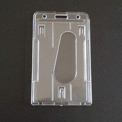 Card ID Badge Lanyard Holder Aluminum Working ID Vertical Metal Hold #WH1