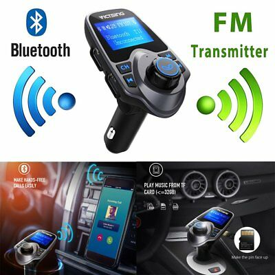 Bluetooth Wireless AUX Stereo Audio Receiver FM Transmitter Radio Adapter USB US