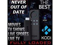 Amazon Fire TV Stick ✔Kodi 16.1 ✔Movies ✔TV Shows ✔Sports ✔Live TV ✔PPV ✔Kids TV✔Fullyloaded✔New