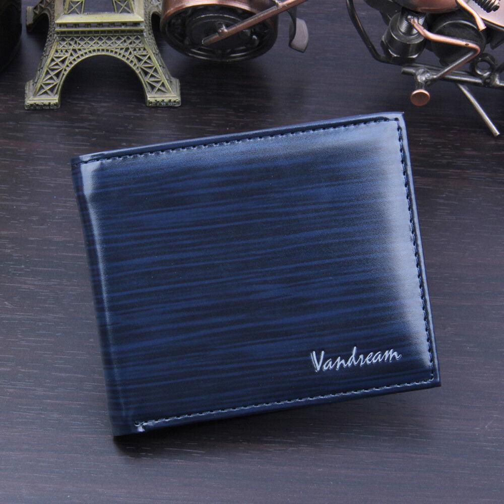 Men's Bifold Business Leather Slim Wallet ID Credit Card Holder Money Clip Purse