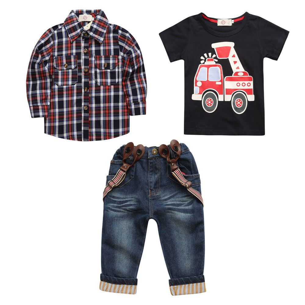 3pcs toddler clothing baby boys dress coat