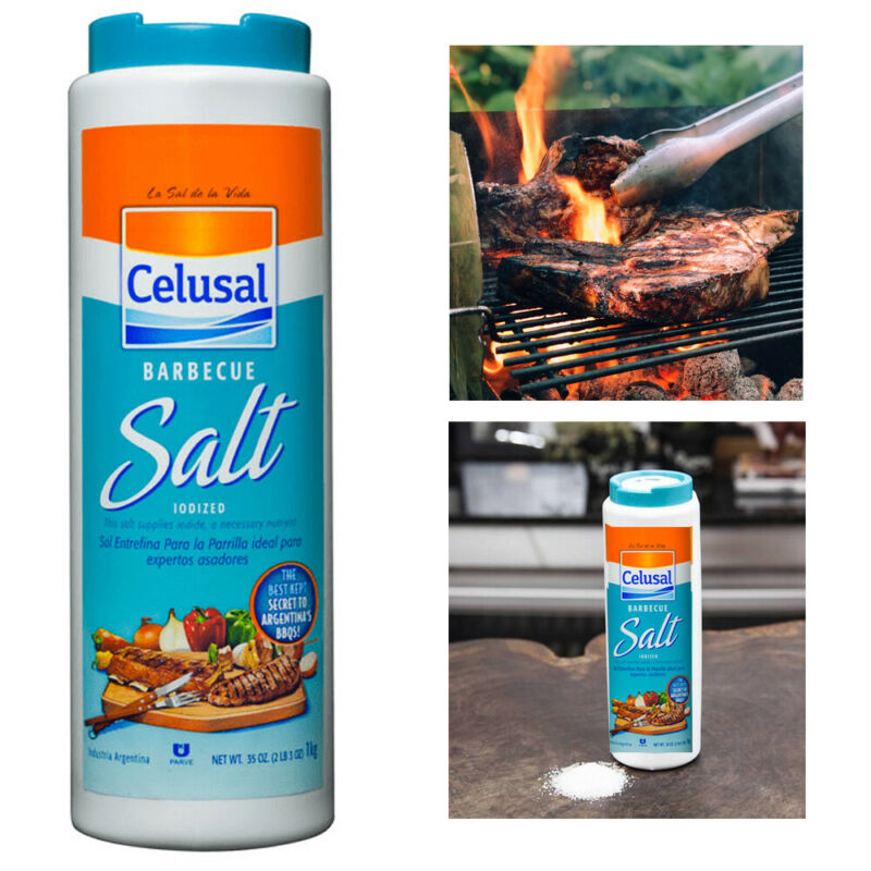 1 Celusal Barbecue Grill Salt Sal Parrillera Argentina Pampas Iodized Seasoning