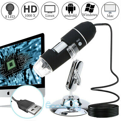 0-1000x Usb Digital Microscope For Electronic Accessories Coin Inspection Us