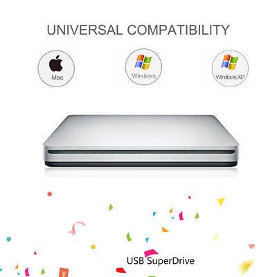 Externe USB 3.0 Slim DVD CD ROM Graveur Lecteur de boîte Disque PC+ Mac Portable