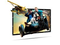 """100 """" new Projector Screen,HD Movie Screen,Collapsible Widescreen,Foldable"""