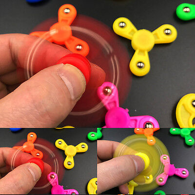 Tri Mini Kids Child Fidget Spinner Hand Spinner Finger EDC Toy Relieve Stress