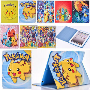 Pokemon-Go-Boys-Pikachu-Leather-Stand-Case-Cover-for-iPad-mini-2-iPad-2-iPad-Air