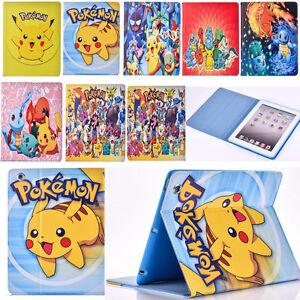 Pokemon-Go-Boys-Pikachu-Leather-Stand-Case-Cover-for-iPad-mini-2-iPad-2-iPad-Air