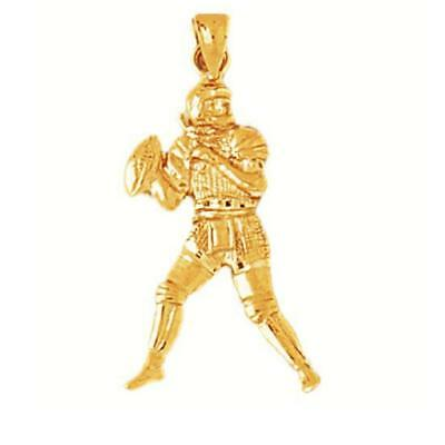 14k Yellow Gold FOOTBALL PLAYER Pendant / Charm, Made in USA