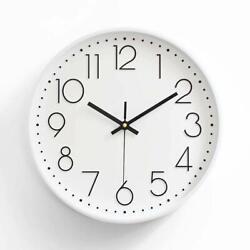 12 30cm Fashion Wall Clock Black Large Digital Silent No Ticking White US