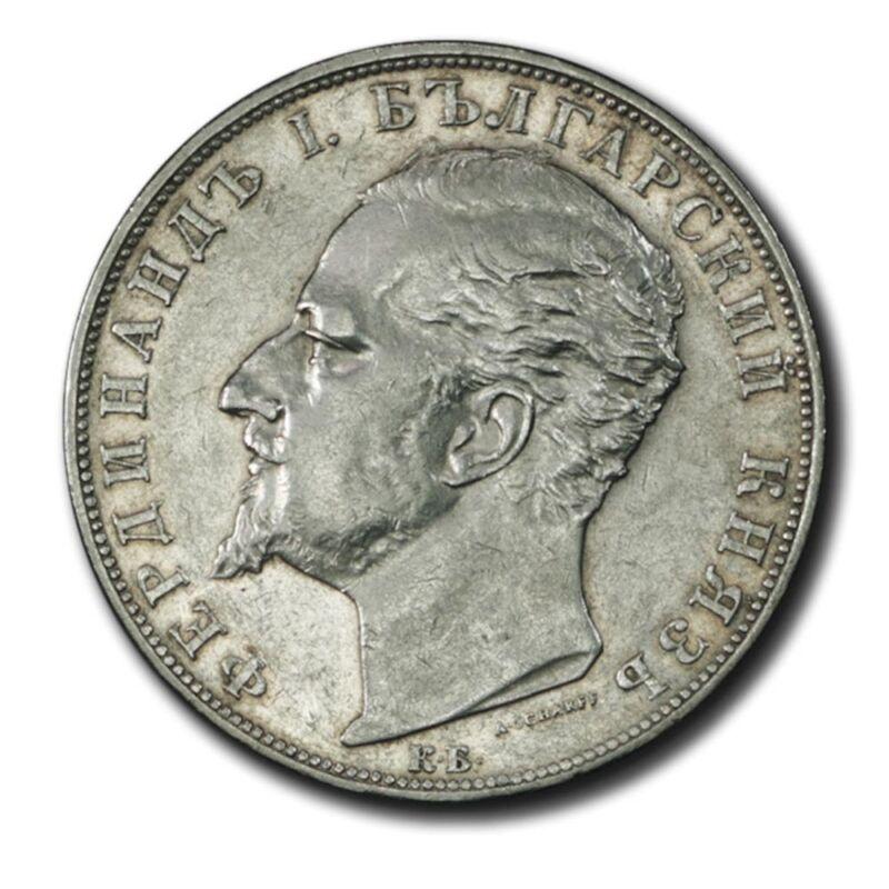 Bulgaria Ferdinand I 5 Leva 1894 KB AU KM 18