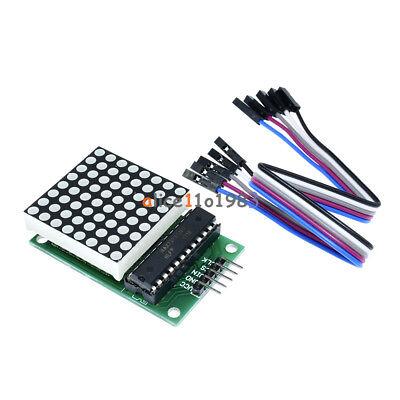 2pcs Max7219 Dot Led Matrix Module Mcu Control Led Display Module For Arduino