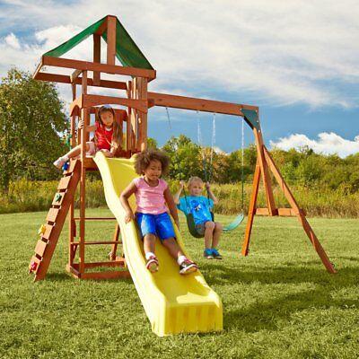 Swing-N-Slide Scrambler Playset with Two Swings, Slide and R