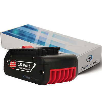 Batterie 18V 4000mAh pour Bosch GSA 18 V-LI GSB 18 VE-2-LI GSB...