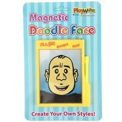 Magic Magnetic Doodle Face Iron Filings Drawing Board Toy Big Hairy Harry Pocket](Magnetic Face Toy)