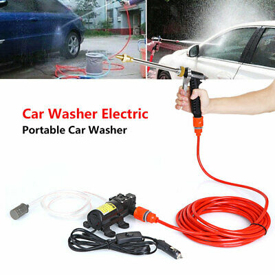 Portable High Pressure Washer Power Pump Self-priming Car Wash Kit 12V Electric