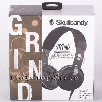 Skullcandy Grind On-Ear Headphones Headset w/Built-In Mic Remote (Black/Gray)