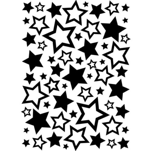 "#173  Darice Embossing Folder Essentials  "" STARS ASSORTED   "" 1218-63"