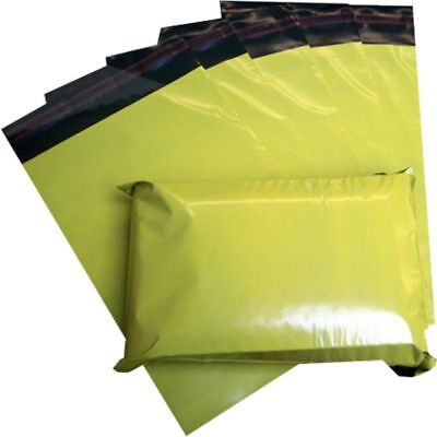 20 Yellow Plastic Mailing Bags Size 14x20