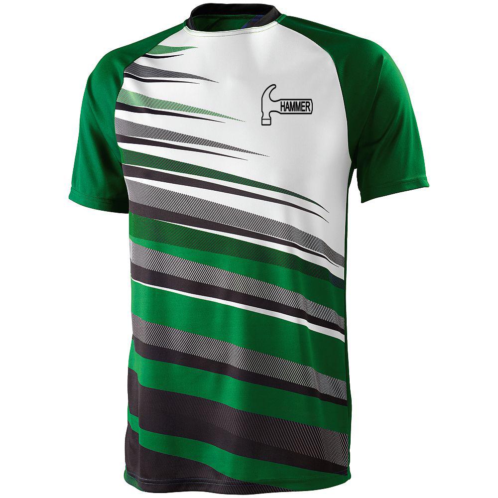 Hammer Men's Sauce Performance Jersey Bowling Shirt Dri-fit Green