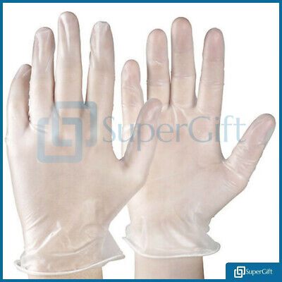 200 x Disposable Gloves Powder Free Latex Free Anti Allergy OR Natural Rubber