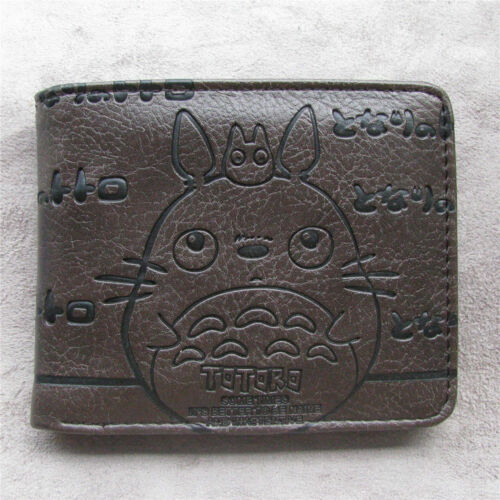 Anime My Neighbor Totoro Men's Wallet Leather pu Bi-Fold Wal