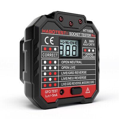 Habotest Gfci Electric Socket Tester Automatic Circuit Polarity Detector U6y4