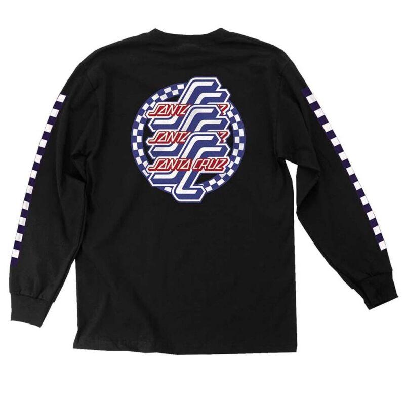 Santa Cruz CHECK OGSC LONG SLEEVE Skateboard T Shirt BLACK LARGE