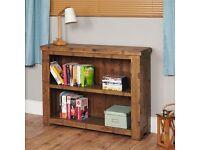 Shipton Rustic Oak Low Bookcase
