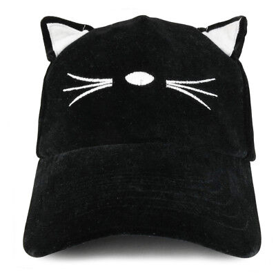 Costume Cat Ear and Whisker Velvet Structured Baseball Cap - Free Shipping](Cat Ears And Whiskers)