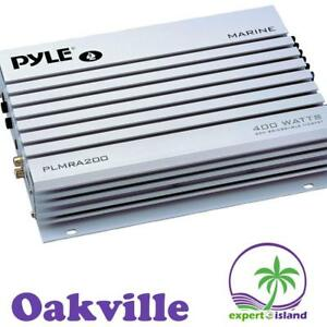 Pyle PLMRA200 2 Channel 400 Watt Bridgeable Waterproof Marine Amplifier