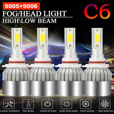 (Combo 9005+9006 Total 3000W 450000LM CREE LED Headlight Hi-Low Beam 6000K White)