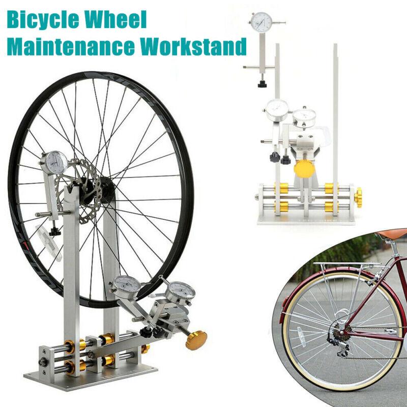 """29"""" Bicycle Wheel Maintenance Platform Truing Bearing Stand +Repair Mechanic Kit"""