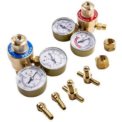 Oxygenacetylene Solid Brass Regulators Set Welding Fit Victor Gas Torch Cutting