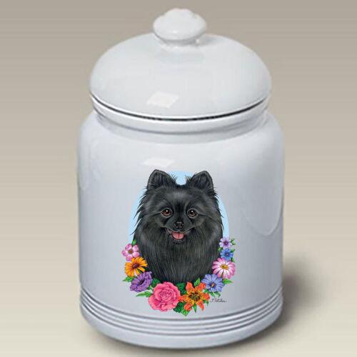 Black Pomeranian Ceramic Treat Jar TP 47255