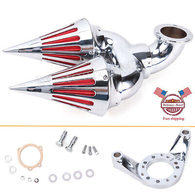 Chrome Spike Air Cleaner Intake Filter For Harley CV