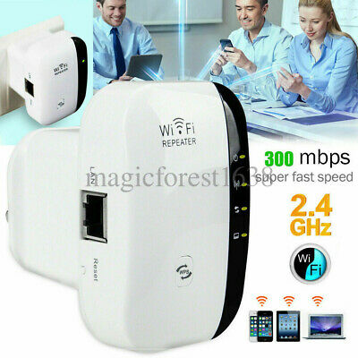 WiFi Blast Wireless Repeater Wi-Fi Range Extender 300Mbps Amplifier Booster 300m