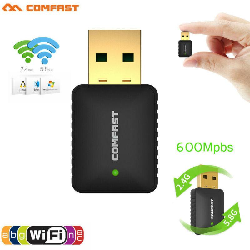 Mini USB2.0 Comfast 915AC 600Mbps 2.4G/5GHz Dual Band WiFi W