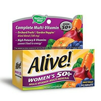 Alive  Natures Way Once Daily Womens 50  High Potency Multivitamin 50 Ea