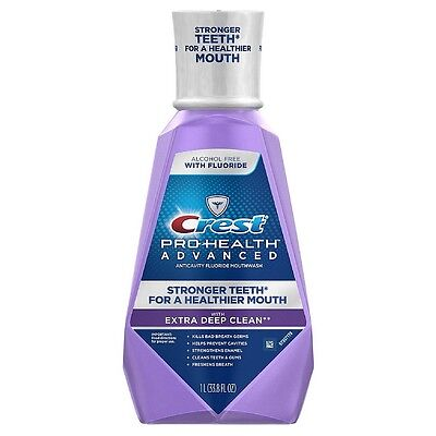 Crest Pro-Health Advanced Mouthwash with Extra Deep Clean, Mint 33.80 oz