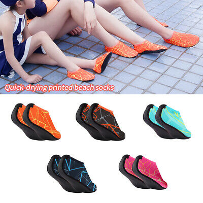 Adult Kids Barefoot Water Skin Shoes Aqua Socks for Beach Sw