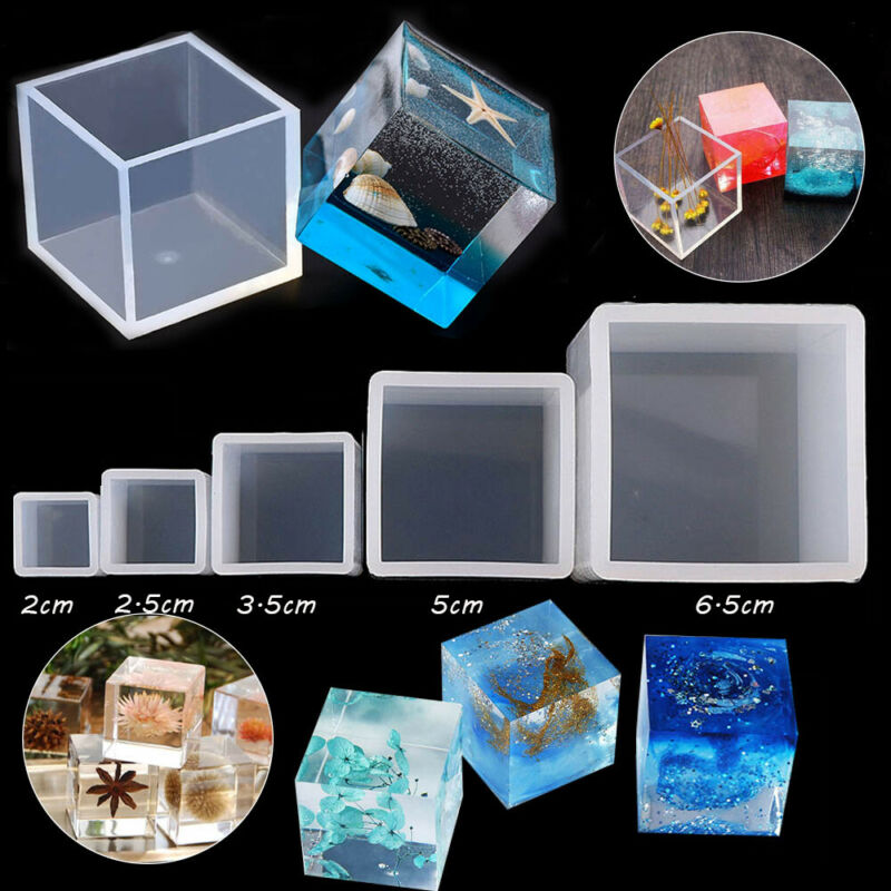 Resin Mold Cube Silicone Molds Casting Square for DIY Craft
