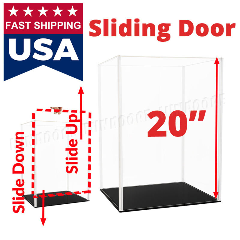 20 inch H Acrylic Display Case Collectibles Box Dustproof Large Figure Install
