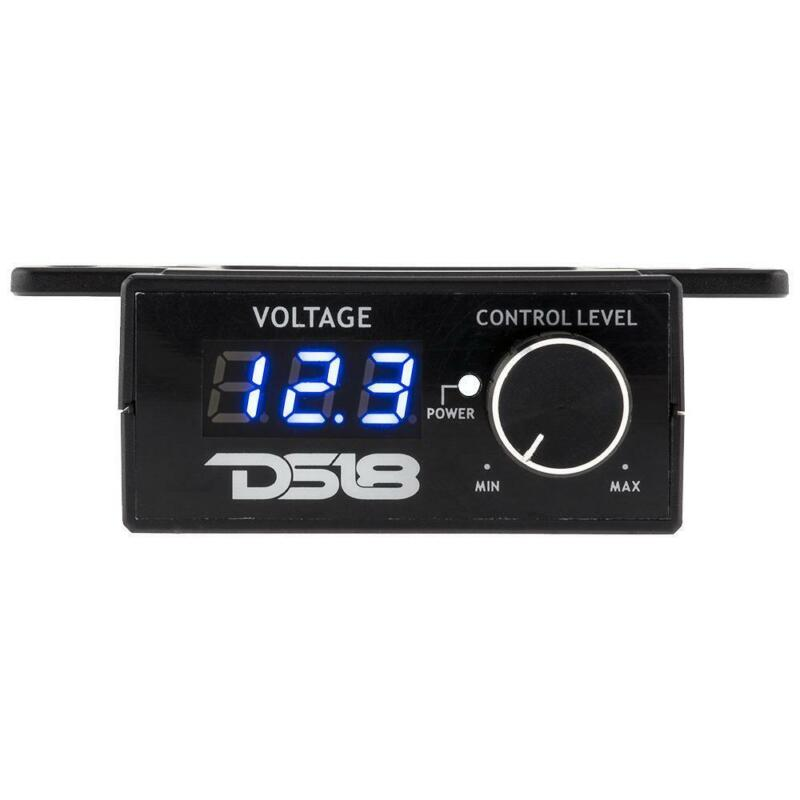 DS18 BKVR UNIVERSAL RCA LINE WIRED BASS KNOB REMOTE WITH VOLTMETER AND REMOTE ON