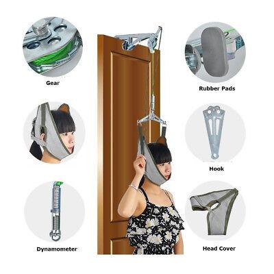 Over Door Cervical Traction Kit Home Neck Stretcher Adjustment Chiropractic  ()
