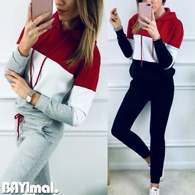 2PCS Women Tracksuit Hoodies Sweatshirt+Pants Set Ladies Sports Suit Loungewear