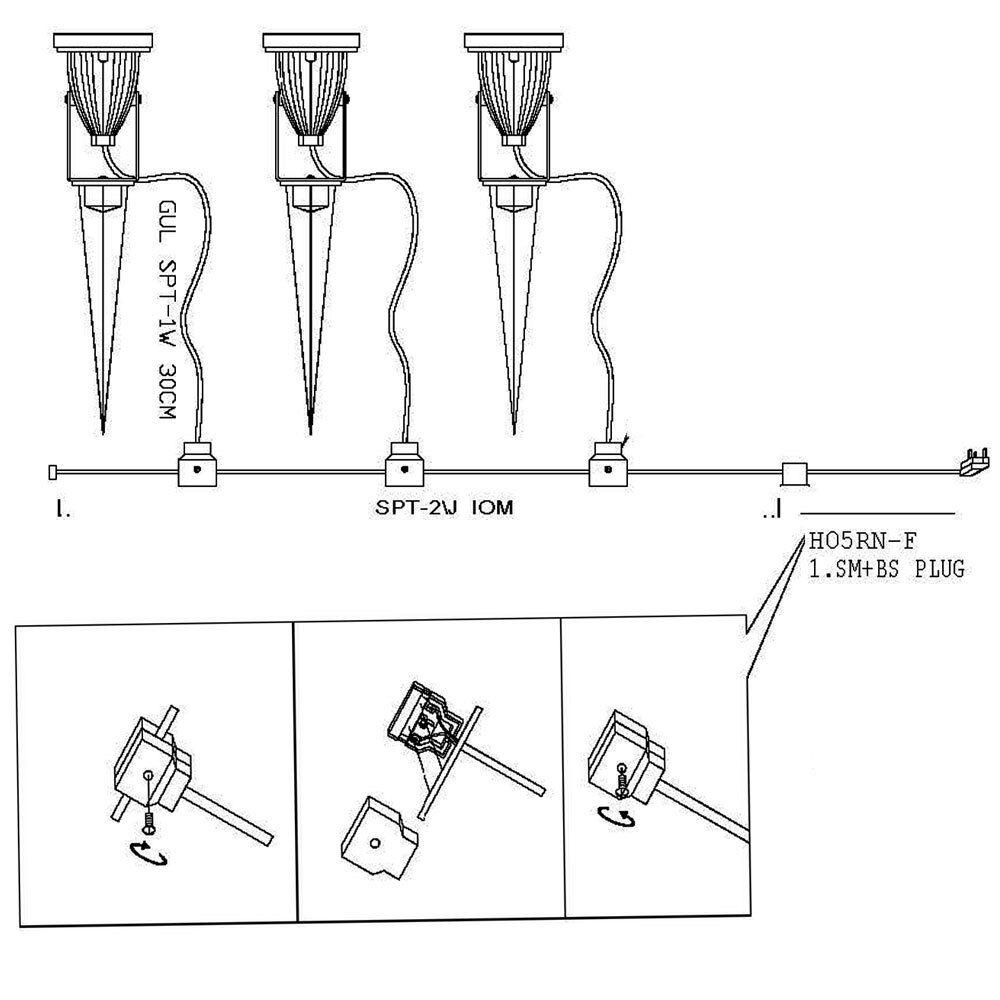 led garden spike light kit 12v 3w led per spike easy