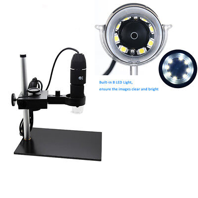 1000x Usb Digital Microscope 8 Led Camera Magnifier With Base Stand Holder W1j6